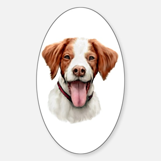 Brittany Bust Oval Decal