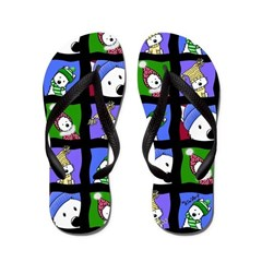 Winter Westies Whimsy Flip Flops