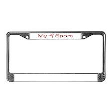 My Sport - Karate / Martial Arts License Plate Fra