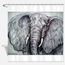 Elephant! Wildlife Art!! Shower Curtain