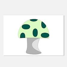 Green Mushroom Postcards (Package of 8)
