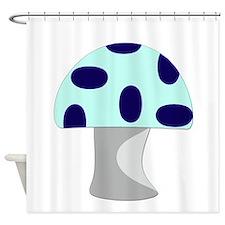 Blue Mushroom Shower Curtain