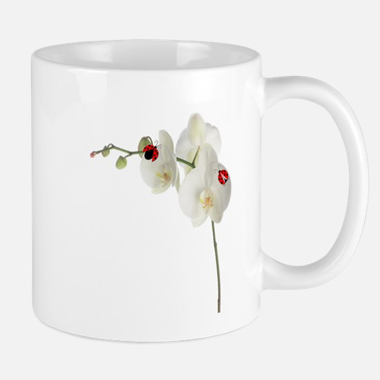 Lady Bug Orchid Mug