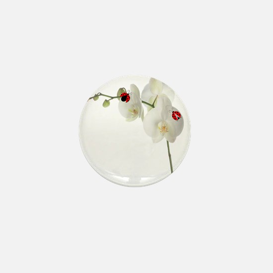 Lady Bug Orchid Mini Button