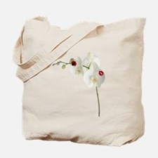 Lady Bug Orchid Tote Bag