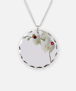 Lady Bug Orchid Necklace