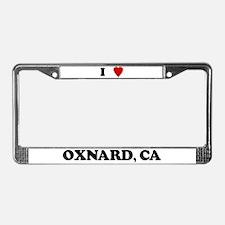 I Love Oxnard License Plate Frame