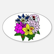 Lady Bug Flower Bed Decal