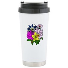 Lady Bug Flower Bed Travel Mug
