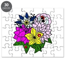 Lady Bug Flower Bed Puzzle
