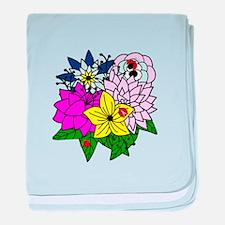Lady Bug Flower Bed baby blanket
