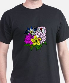 Lady Bug Flower Bed T-Shirt
