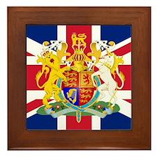 UK Flag and Coat of Arms Framed Tile