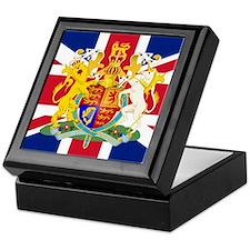 UK Flag and Coat of Arms Keepsake Box