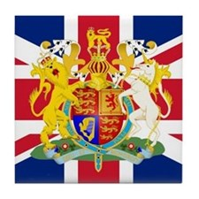 UK Flag and Coat of Arms Tile Coaster