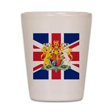 UK Flag and Coat of Arms Shot Glass
