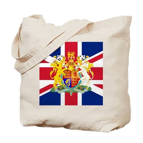UK Flag and Coat of Arms Tote Bag