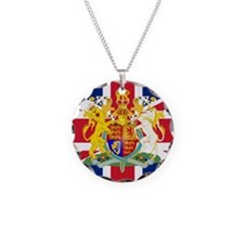 UK Flag and Coat of Arms Necklace