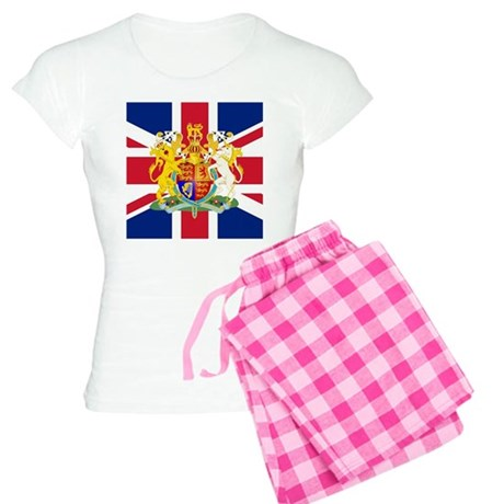 UK Flag and Coat of Arms Women's Light Pajamas
