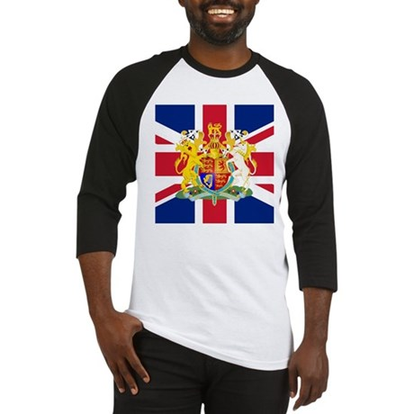 UK Flag and Coat of Arms Baseball Jersey