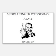 Middle Finger Merchandise Sticker (Rectangle)