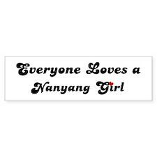 Loves Nanyang Girl Bumper Bumper Sticker