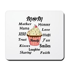 Mom Family Cupcakes Mousepad
