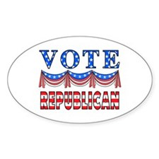 Vote Republican Oval Decal