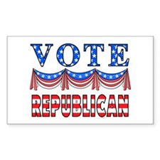 Vote Republican Rectangle Decal