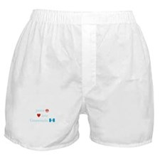 Peace, Love and Guatemala Boxer Shorts
