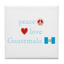 Peace, Love and Guatemala Tile Coaster