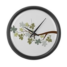 Leafy Tree Branch Large Wall Clock