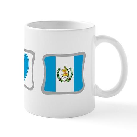 Peace, Love and Guatemala Mug