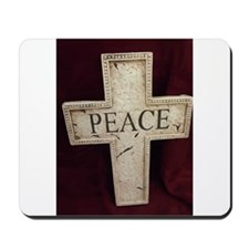 Peace Cross Mousepad