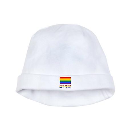 Gay Pride Flag & Words - Colors baby hat