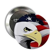 """American Flag/Bald Eagle 2.25"""" Button"""