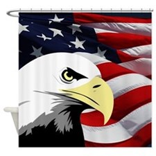 American Flag/Bald Eagle Shower Curtain