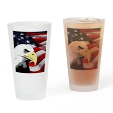 American Flag/Bald Eagle Drinking Glass