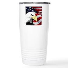 American Flag/Bald Eagle Travel Mug