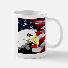 American Flag/Bald Eagle Mug