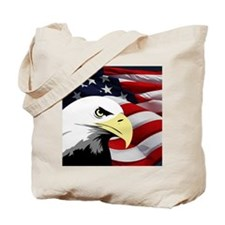 American Flag/Bald Eagle Tote Bag