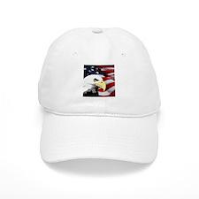 American Flag/Bald Eagle Baseball Cap