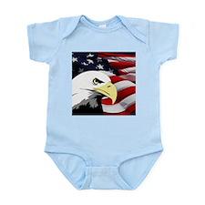 American Flag/Bald Eagle Infant Bodysuit
