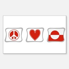 Peace, Love and Greenland Decal