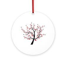 Valentine Love Tree Ornament (Round)