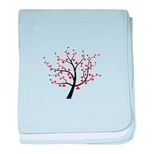 Valentine Love Tree baby blanket