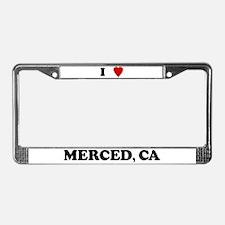 I Love Merced License Plate Frame