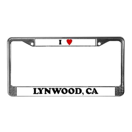 I Love Lynwood License Plate Frame