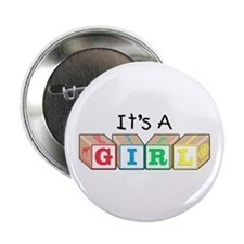 It's a Girl! New Baby Button