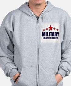 Military Grandmother Zip Hoodie